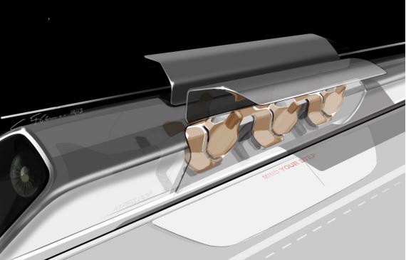 Hyperloop Peoplepod Seating Arrangement