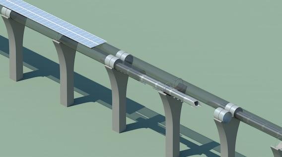 Hyperloop Fifth Mode Solar